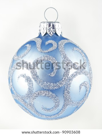Christmas toy in the shape of the ball - stock photo