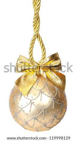 Christmas toy isolated on white background - stock photo