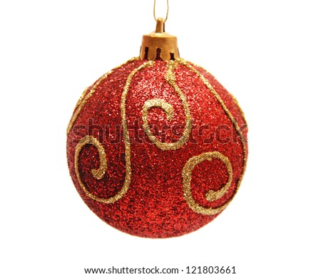 Christmas toy isolated on white background - stock photo