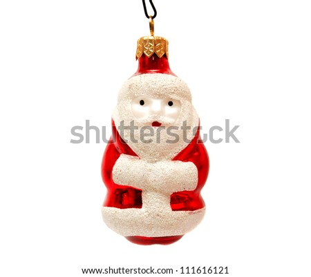 Christmas Toy Santa Claus isolated on white background