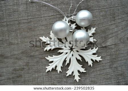 Christmas toys, Christmas decorations, Christmas balls - stock photo