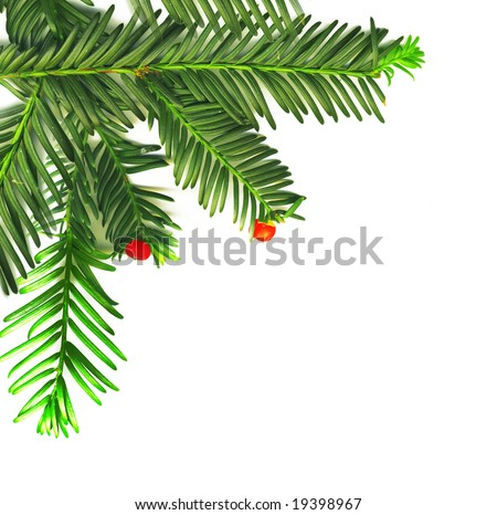 Christmas traditional decoration in the corner - stock photo