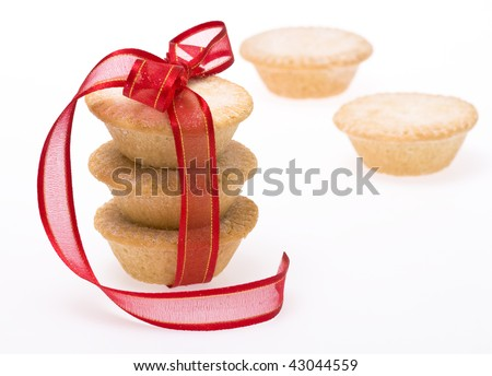 Christmas traditional fruit mince pies - stock photo