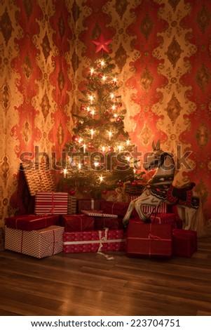 christmas tree 1 - stock photo