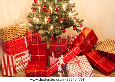 christmas tree 4 - stock photo