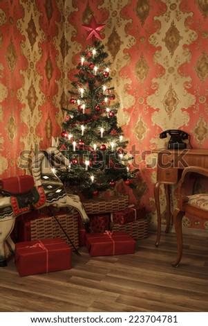 christmas tree 2 - stock photo
