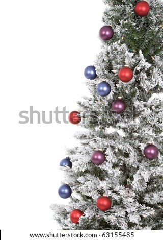 Christmas tree abstract on white background. - stock photo