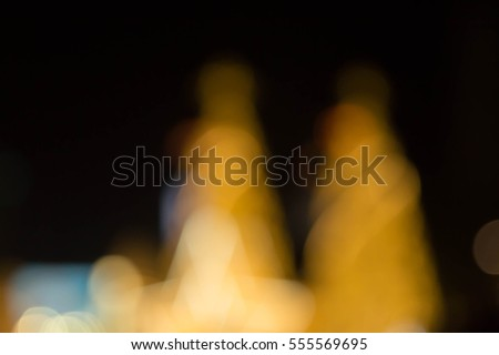 Christmas tree and festive bokeh lighting, blurred holiday background