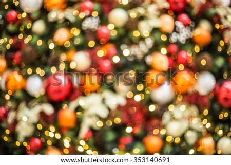 Christmas tree and light background