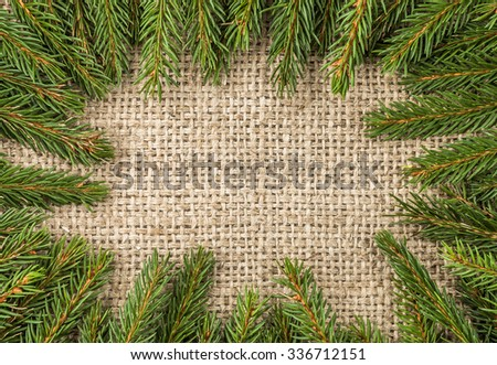 Christmas tree border. - stock photo