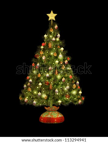Christmas Tree CA - stock photo