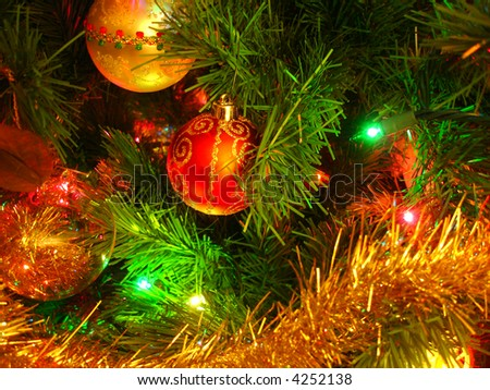 Christmas Tree Closeup - stock photo