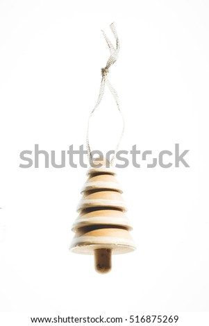 Christmas tree decoration against a white background.