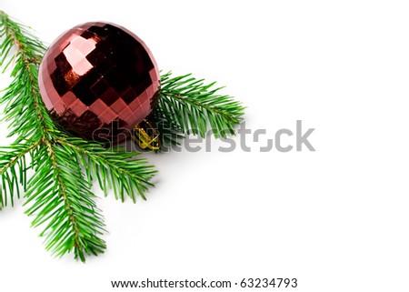 Christmas Tree Decoration isolated on white - stock photo