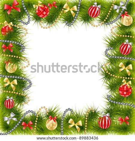 Christmas Tree decoration Raster version - stock photo