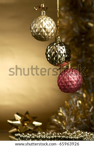 Christmas-tree decorations - stock photo