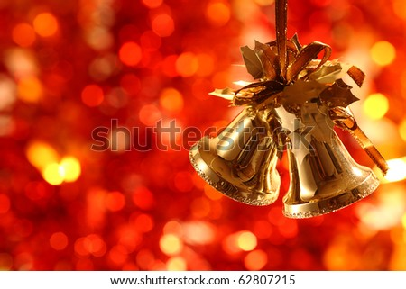 Christmas-tree decorations against light background - stock photo