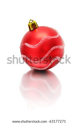 Christmas-tree decorations isolated on a white background - stock photo