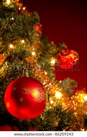 Christmas tree detail - stock photo