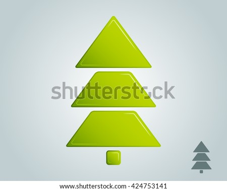 christmas tree empty blank - stock photo