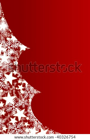 Christmas tree filled with snowflakes and stars