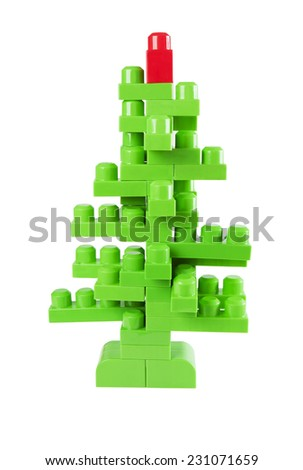 Christmas tree from the designer - stock photo