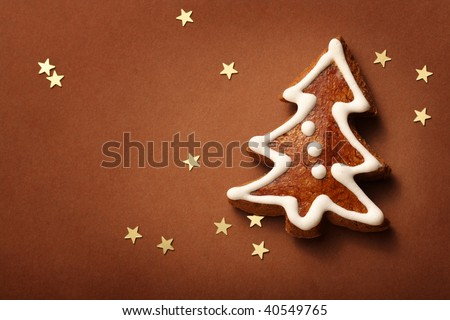 christmas tree gingerbread - stock photo
