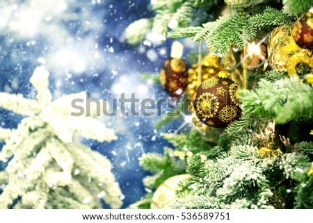 Christmas tree.Holiday background