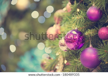 christmas tree in retro vintage style  - stock photo
