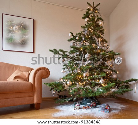 Christmas tree in the living room