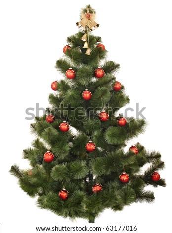 Christmas tree. Isolated. - stock photo