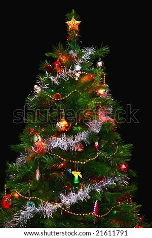 Christmas Tree isolated on a black