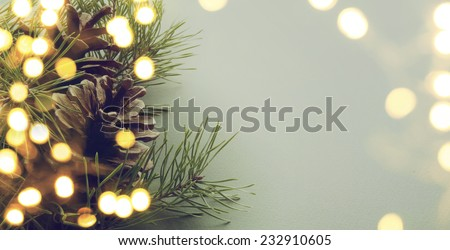christmas tree light - stock photo