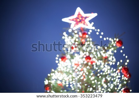Christmas tree lights - stock photo