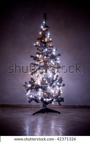 Christmas Tree Lights - stock photo