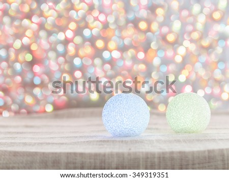 Christmas tree made of crystal and background bokeh of twinkling party lights