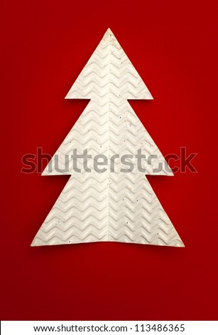 Christmas tree made of paper - stock photo