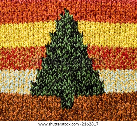 Christmas tree pattern, Christmas background - stock photo