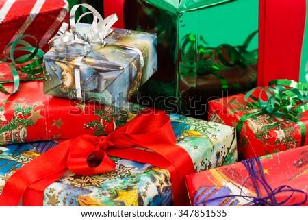 christmas tree presents - stock photo