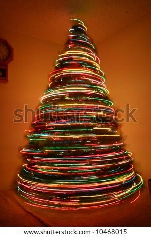 christmas tree spins like tornado stock photo edit now 10468015