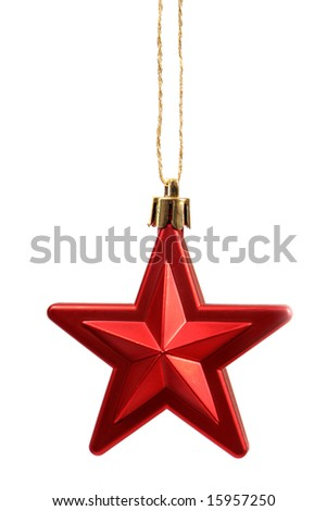 Christmas tree star decoration - stock photo