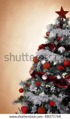 Christmas tree lot stock photos images pictures for Red white and silver christmas tree ideas