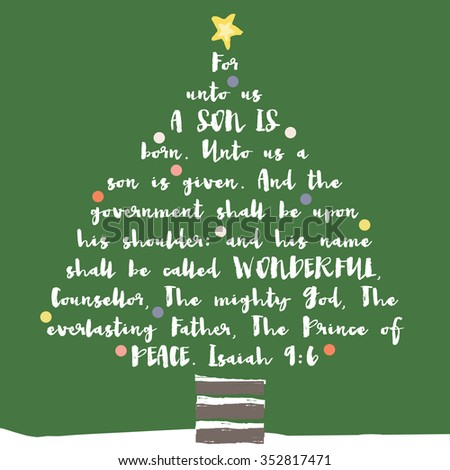 Christmas tree typography bible verse christian stock illustration christmas tree typography bible verse christian christmas card m4hsunfo