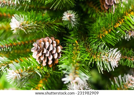 Christmas Tree with cones - stock photo