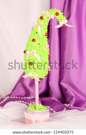 Christmas tree with curved tip - stock photo