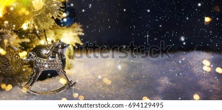 Christmas tree with decoration and lighting