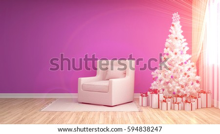 Fantastic Christmas Decorations Living Room Illustration - Living ...