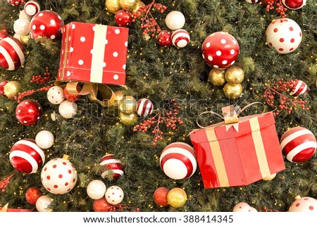 Christmas tree with gift boxes - stock photo