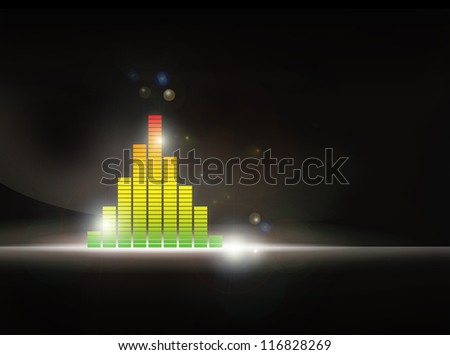 Christmas tree with LED - stock photo