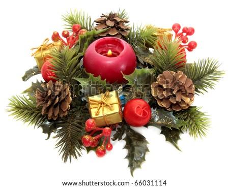 Christmas-tree wreath - stock photo